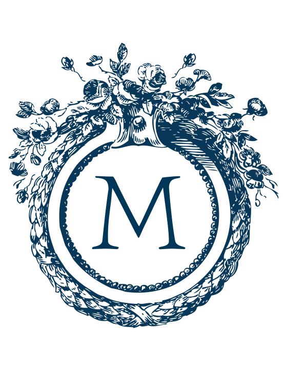 custom antique monogramme